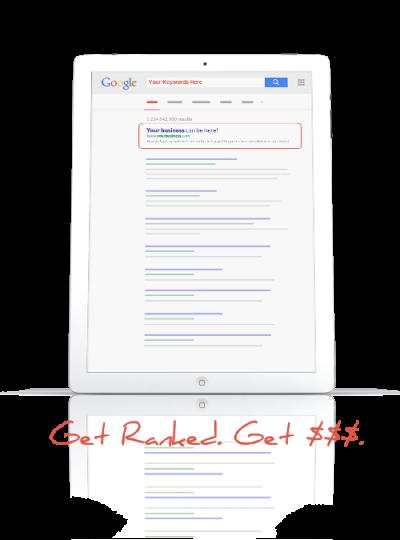 SEO Google SERP Mockup Tablet