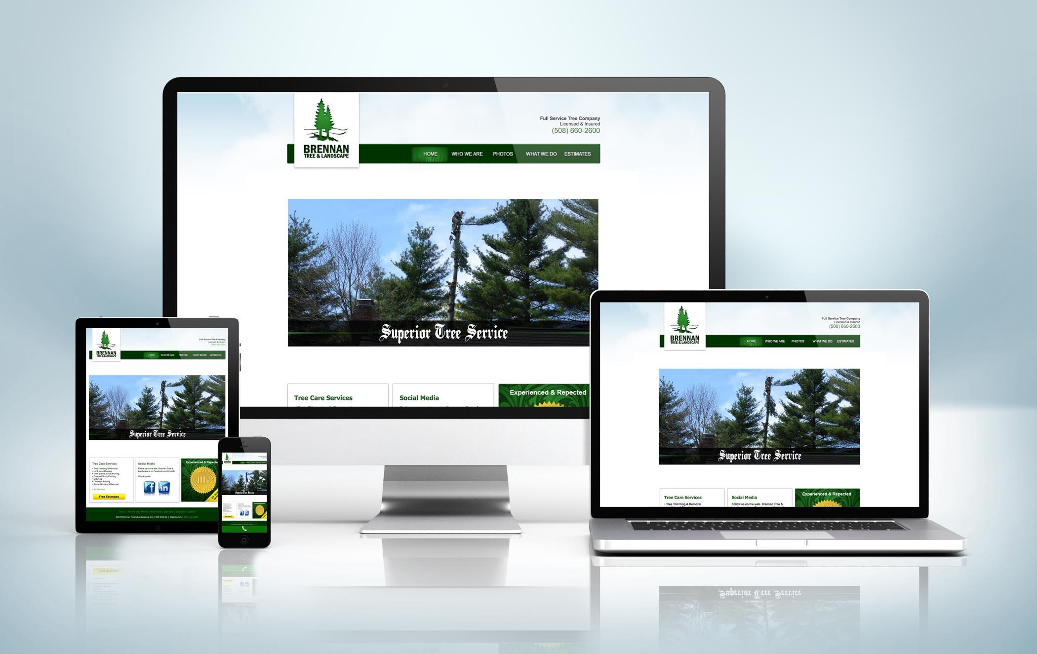 Responsive Website Mock-Up Brennan Tree