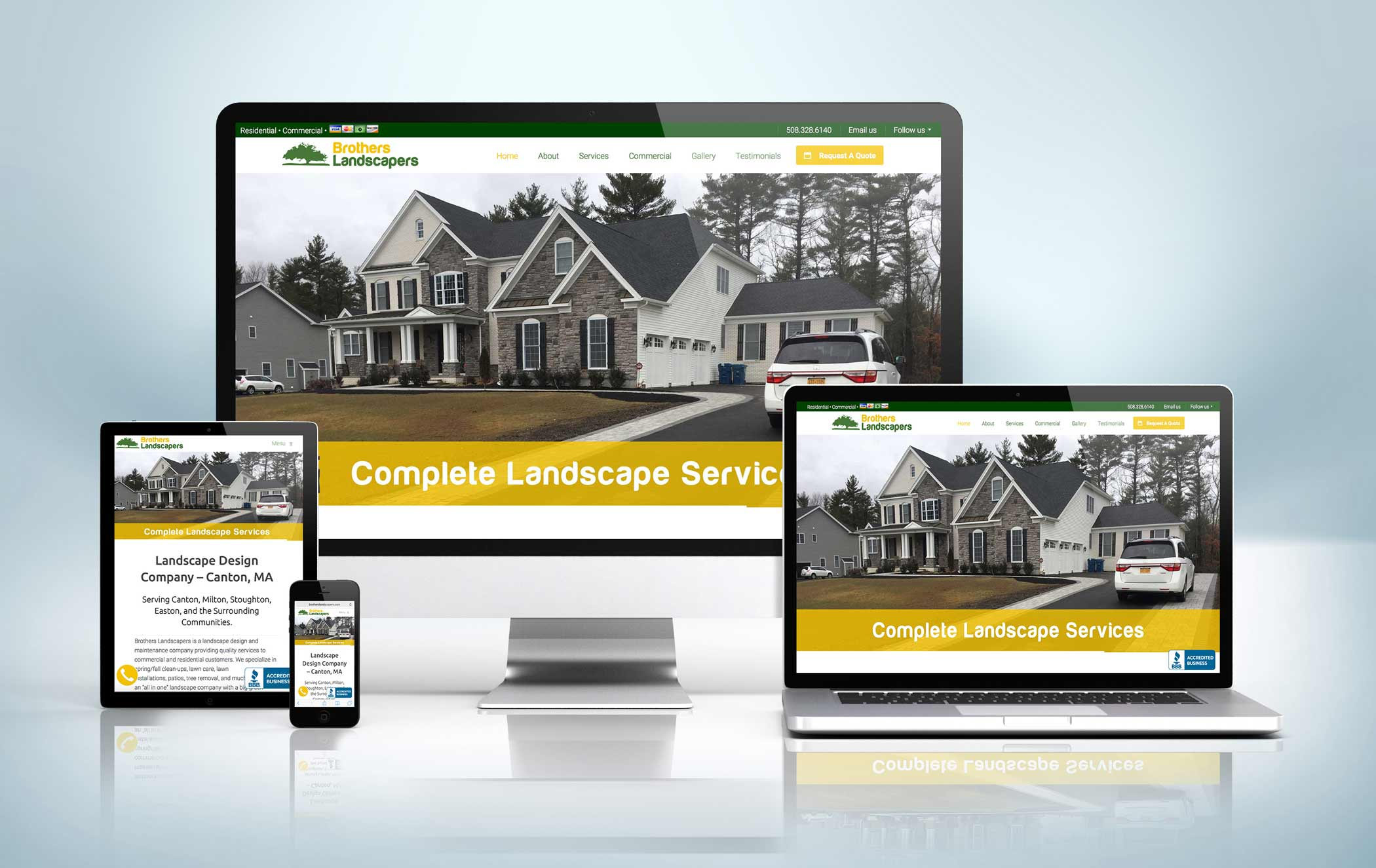 Responsive Website Mock-Up Brothers Landscapers