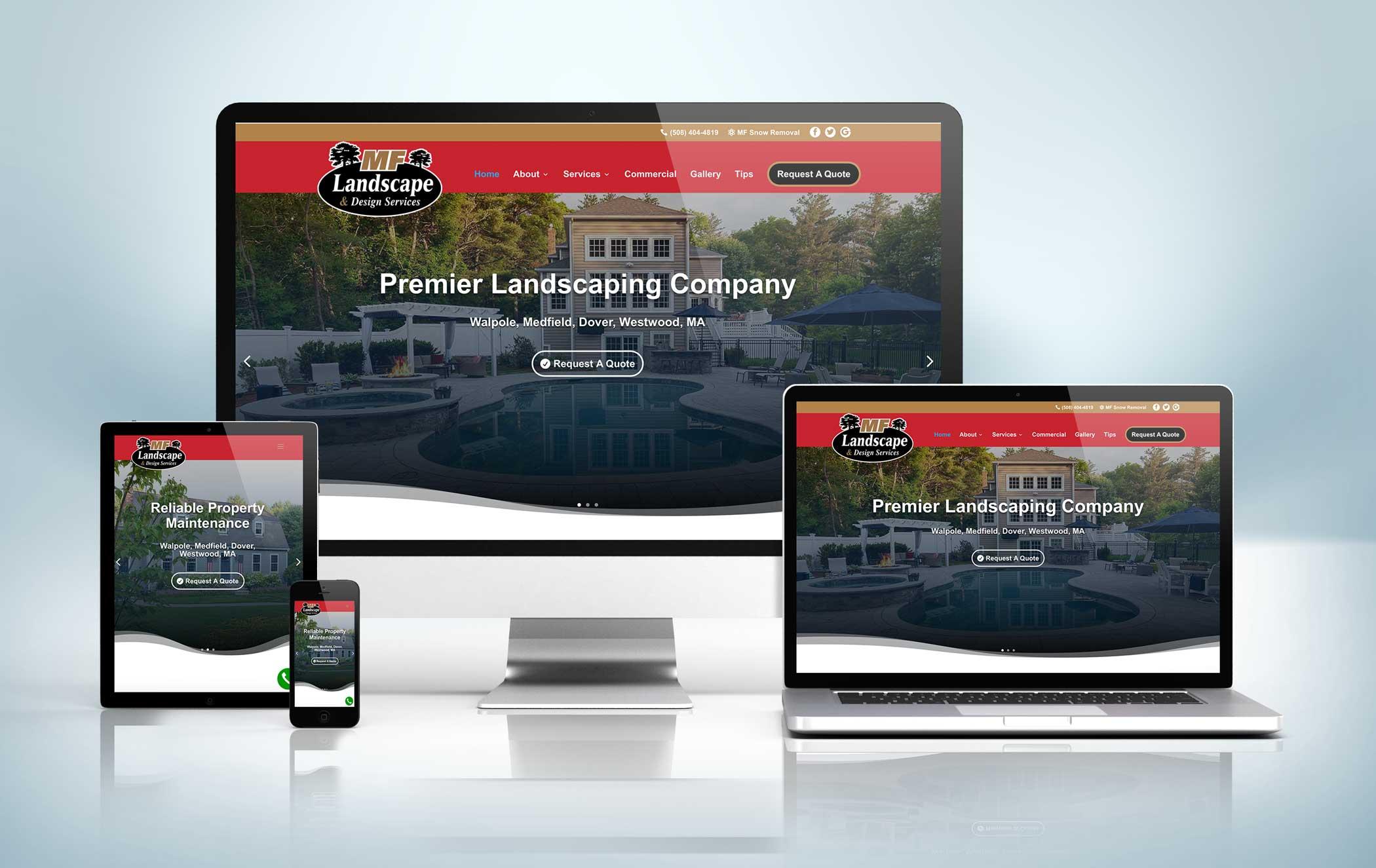 Responsive Website Mock-Up FRONTAL MF Landscape
