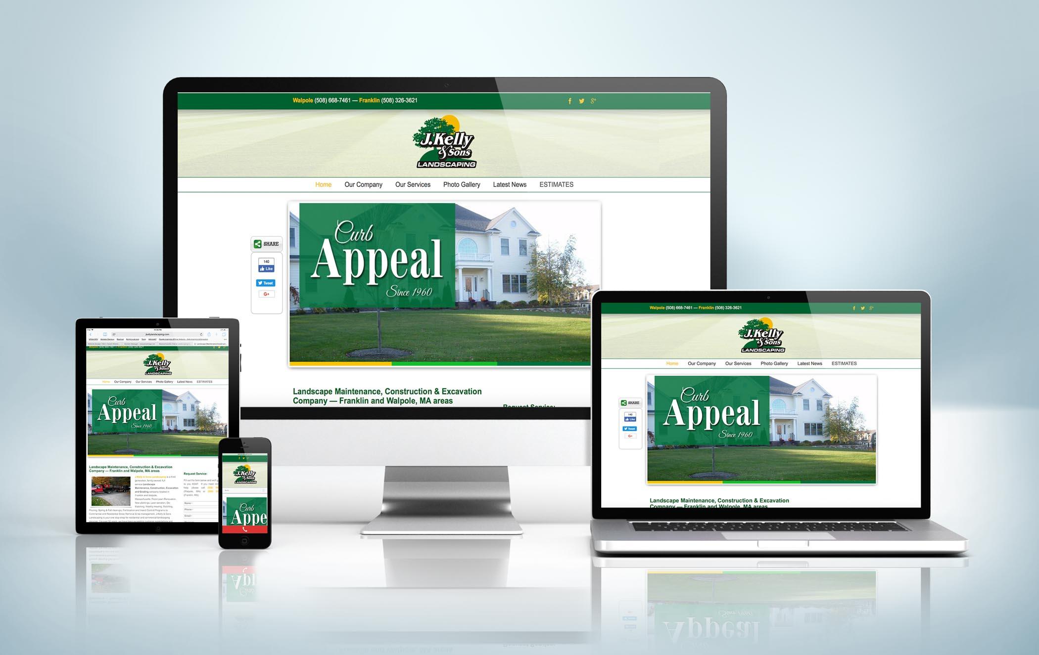 Responsive Website Mock-Up J Kelly Landscaping